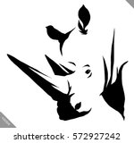 black and white linear paint... | Shutterstock .eps vector #572927242