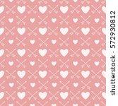 valentines day seamless... | Shutterstock .eps vector #572930812