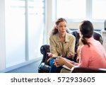 psychologist having session... | Shutterstock . vector #572933605