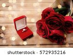 love  proposal  valentines day... | Shutterstock . vector #572935216