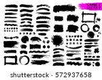 big collection of black paint ... | Shutterstock .eps vector #572937658