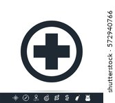 medical cross icon | Shutterstock . vector #572940766
