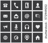 square communication icon set....