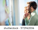 thoughtful business people in...   Shutterstock . vector #572962036