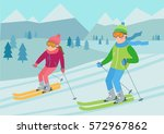 flat vector illustration of... | Shutterstock .eps vector #572967862