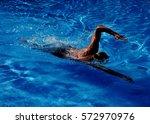 Man Crawl In The Swimming Pool...