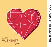 creative valentine's day card.... | Shutterstock .eps vector #572974006