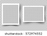 set of realistic vector blank... | Shutterstock .eps vector #572974552