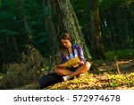 Young Female Hiker In Forest....