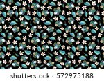 raster multicolor hibiscus...   Shutterstock . vector #572975188