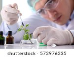 biotechnology concept with...   Shutterstock . vector #572976235