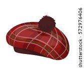 scottish traditional cap icon... | Shutterstock .eps vector #572976406