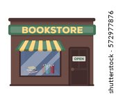 bookstore icon in cartoon style ... | Shutterstock .eps vector #572977876