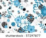 abstract illustration of black... | Shutterstock . vector #57297877