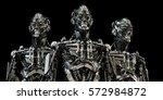 Steel Mecha Robotic Torso Trio...