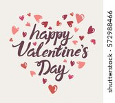 happy valentines day typography ... | Shutterstock .eps vector #572988466