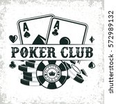 vintage casino logo design  ... | Shutterstock .eps vector #572989132