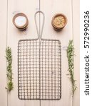 Metal Grid For Cooking With...