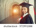 Woman Student In Graduation Ca...