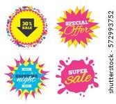 sale splash banner  special... | Shutterstock .eps vector #572993752
