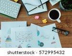 business document in office... | Shutterstock . vector #572995432