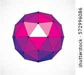 3d vector digital wireframe... | Shutterstock .eps vector #572996086