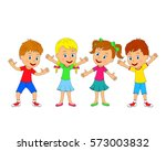 kids boys and girls are smiling ...   Shutterstock .eps vector #573003832