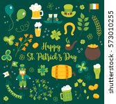collection of st. patrick's day ... | Shutterstock .eps vector #573010255