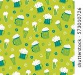 st. patrick's day seamless... | Shutterstock .eps vector #573010726