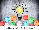 brainstorming concept with... | Shutterstock . vector #573012676