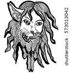 vector illustration of werewolf ...   Shutterstock .eps vector #573013042