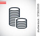 money icon flat. | Shutterstock .eps vector #573015535