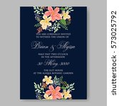 wedding invitations with... | Shutterstock .eps vector #573025792