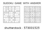 sudoku game with answer. vector ... | Shutterstock .eps vector #573031525