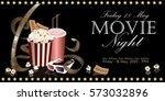 Popcorn Box With Film Reel ...