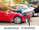 air pollution and reduce... | Shutterstock . vector #573033532