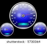 speedometer and other dials | Shutterstock . vector #5730364