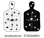 shooting range gun target with... | Shutterstock .eps vector #573036892
