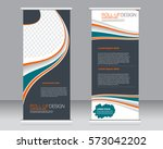 roll up banner stand template.... | Shutterstock .eps vector #573042202