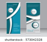 roll up banner stand template.... | Shutterstock .eps vector #573042328
