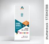 banner roll up design  business ... | Shutterstock .eps vector #573043588