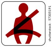 use your seat belt sing    ... | Shutterstock .eps vector #57305191