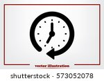 clock icon vector.  | Shutterstock .eps vector #573052078