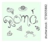 roma vector illustration. hand... | Shutterstock .eps vector #573055882