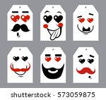 valentines day postcard with... | Shutterstock .eps vector #573059875