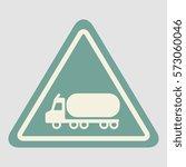 warning road sign gasoline tank ... | Shutterstock .eps vector #573060046