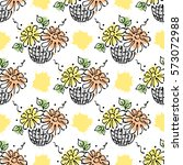 raster seamless floral pattern...   Shutterstock . vector #573072988