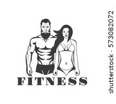 man and woman of fitness vector ... | Shutterstock .eps vector #573082072