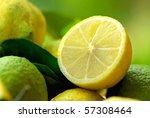Mature lemons. - stock photo