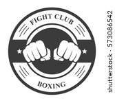 fight club emblem with two... | Shutterstock .eps vector #573086542
